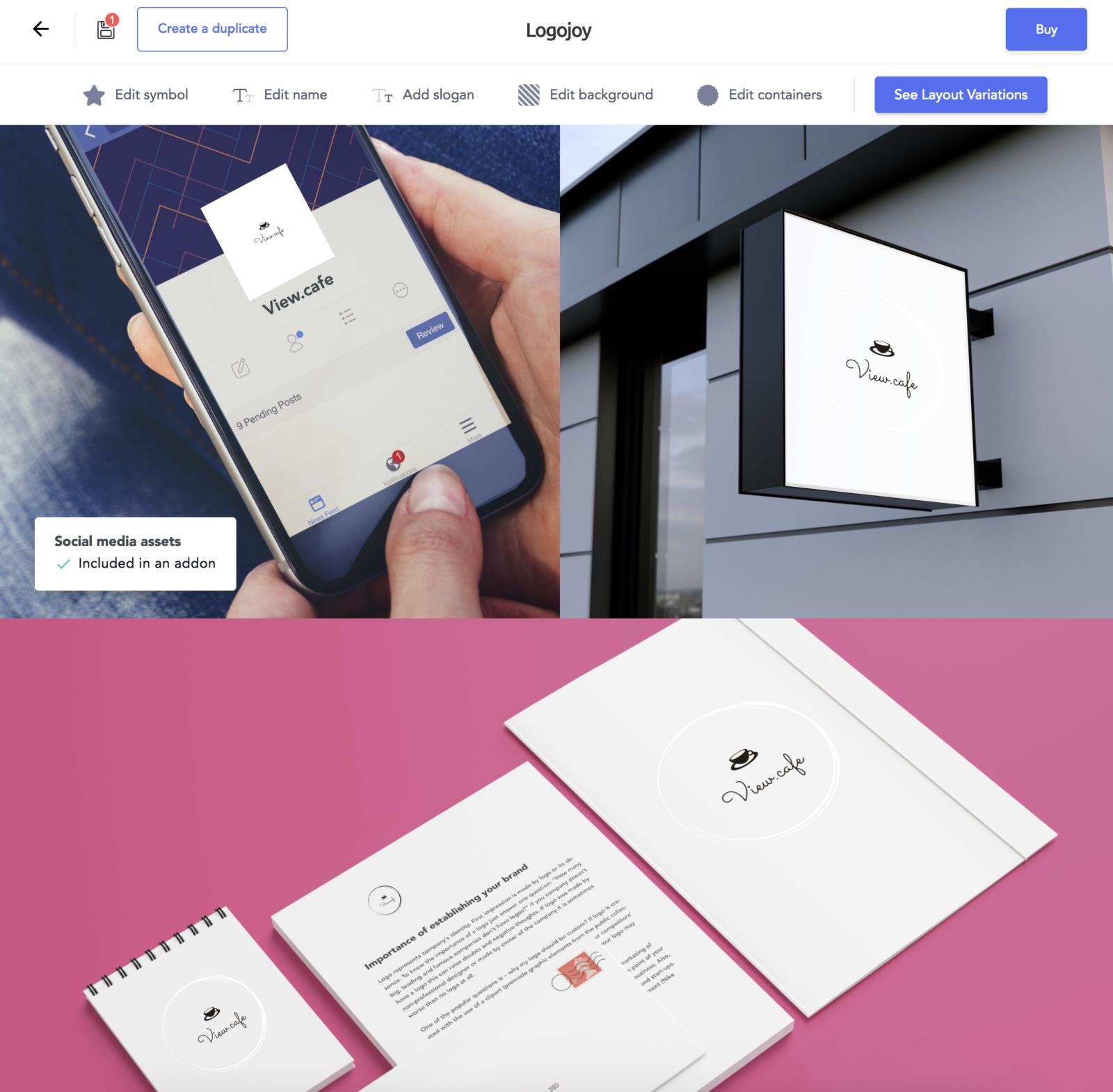 AI(人口知能)がロゴデザインをしてくれるジェネレーター「Logojoy」