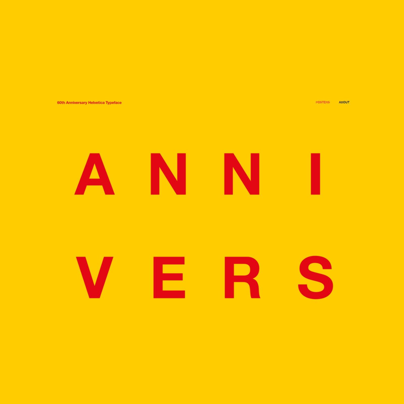 ヘルベチカ誕生60周年を記念して、有名デザインスタジオが制作したポスター「60th Anniversary Helvetica Typeface」