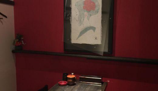 松本個展で購入頂いた作品、飲食店新店舗の壁に入るの巻