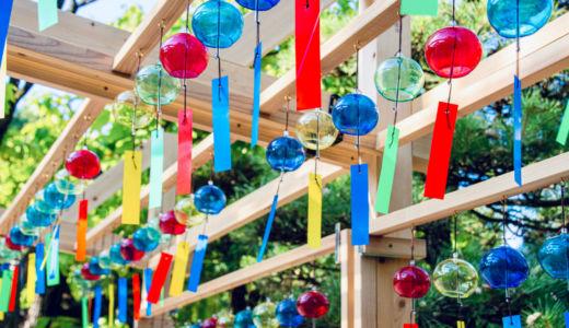 市原稲荷神社の「夏詣(なつもうで)」の風鈴